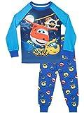 Super Wings Pijama para Niños Jett y Donnie Ajuste Ceñido Multicolor 3-4 Años