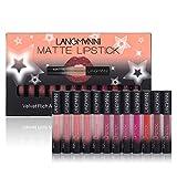 Oyalaiy Lippenstift Lipgloss, Wasserdicht langlebig Matte Liquid Lipstick Schönheit Lippe Gloss, Sexy Wasserdichte Long Lasting Moisturizing Lippenstift