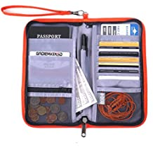 GADIEMENSS Travel Wallet Passports Holder with RFID Blocking Offer Family Organizer for Credit & Business Cards, Document, Boarding Pass, and Accessories