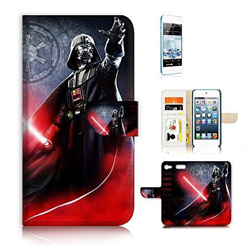 (für iPod Touch 6/iTouch 6) Flip Schutzhülle Bundle Hülle & Displayschutzfolie, a21334Krieg der Sterne Darth Vader