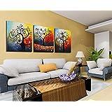 Bernice -Canvas Arte, Canvas Print astratto 3pc, allungato e incorniciato, alberi, vendita calda moderna della tela di canapa di arte della parete della decorazione, pittura astratta, Bella Immagine decorativa