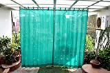 #7: HIPPO Outdoor Curtains - Green Colour - Full Size (2 Nos. x 4.0 Ft W x 7.5 Ft L)