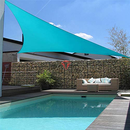 DYHQQ Sonnenschutzsegel gleichseitige Dreieck-Überdachung - durchlässiger UV-Block-Stoff dauerhaft im Freien,6 * 6 * 6m