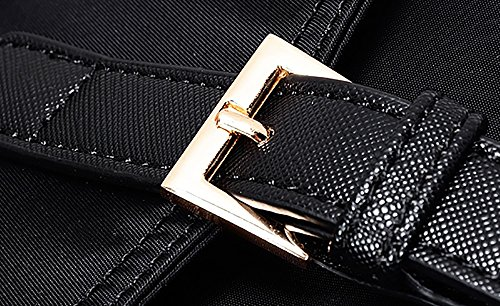CLOTHES-_ Sacchetto di spalla del sacchetto di spalla del sacchetto della tela di canapa del sacchetto della borsa della signora sacchetto di spalla Oxford del sacchetto del sacchetto della borsa dell Nero