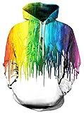 AMOMA Jungen Digitaldruck Kapuzenpullover Tops Fashion Hoodie Pullover Hooded Sweatshirt (Small/Medium, Pigment)