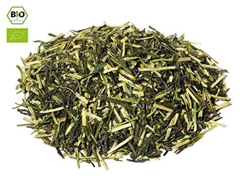 Japanischer Grüner Tee Kukicha Kaede, BIO-zertifiziert, Super-Premium, beschattet. 50 g, lose, nicht aromatisiert. Aus kleinem Tee-Garten Präfektur Uji/Kyoto. Sehr gut verträglich, ein wärmender Abend-Tee. Direkt aus Japan