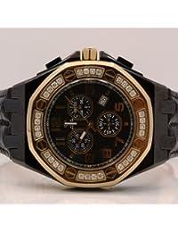 AQUA MASTER W325 - Reloj para hombres, correa de cuero color negro