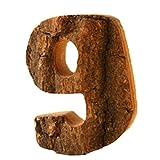 Outflower Deko-Buchstaben, Zahlen, Holz, Vintage-Stil, zum Aufhängen / Aufkleben etc.9