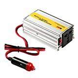 Invertitore di potenza, KOMRT 200W Inverter CC da 12V a 220V AC con uscita AC e una porta USB, argento