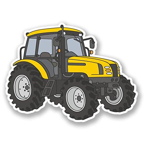 10cm/100mm Gelbe Bauernhof Traktor Vinyl Selbstklebende Sticker Aufkleber Laptop Reisen Gepäckwagen Cool Zeichen Spaß #5508 ()