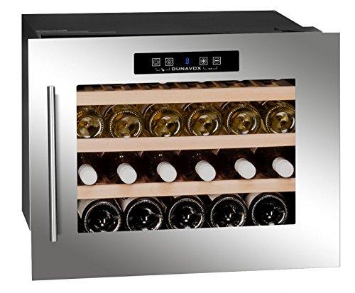 Dunavox - 'DX-24.56BSK', Weintemperierschrank für 24 Flaschen, 1 Zone, 5 - 22°C, Einbaugerät