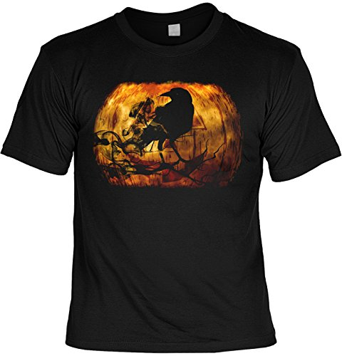 Halloween T-Shirt - Rabe im Kürbis - gruseliges Shirt als lustige Alternative zum Halloween ()