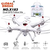 Malloom® Global Drone 6-axes X183 With 2MP WiFi FPV HD Camera GPS Brushless Quadcopter (HD weiß)