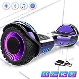 Mega Motion 6.5Pulgadas Hoverboard E-Star 2018 Nuevo Scooter eléctrico Self-Balance - con RGB LED en Las Ruedas- Altavoz Bluetooth - 700W Motor - Modelo Gyropod
