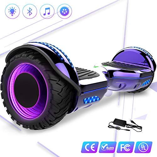 Hoverboard elettrico 6.5'' E-Star Scooter elettrico auto bilanciamento Ruote con LED Altoparlante Bluetooth, Motore 700W