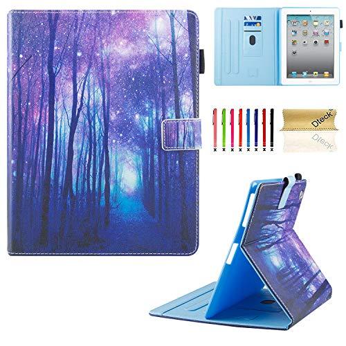 3/4Fall, dteck Mehreren Sichtwinkeln Folio Ständer Smart iPad Schutzhülle Hülle mit Auto Sleep/Wake Schutzhülle für iPad 4. Generation, iPad 3und iPad 2, violett ()