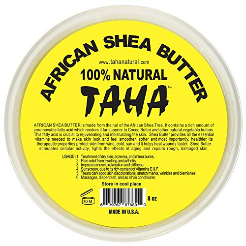 African Shea Butter Cream (100% Pure & Raw, Gold) 8 Oz. by Plant Guru -
