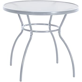 greemotion Table de jardin ronde Prag - Table ronde diamètre 80 cm ...