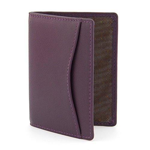 1642 Porte-carte de Voyage en cuir Style 5307_17 violet