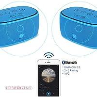 Xcellent Global Smart Music 1+1 Bluetooth Lautsprecher NFC Wireless pairing,3D Surround Sound,Stereo,High Definition Audio,Verbesserte Bass,AUX TF Freisprech ideal für Väter Freund Weihnachtsgeschenk, Blau PC022L
