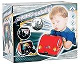 Kinder Autocockpit Rennsimulator mit Lenkrad Licht Sound uvm