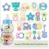 KidsHobby® En primer lugar Rattle Toy 18 pedazos del bebé con la botella de bebé gigante banco de moneda de regalo Conjuntos- Los colores pueden variar