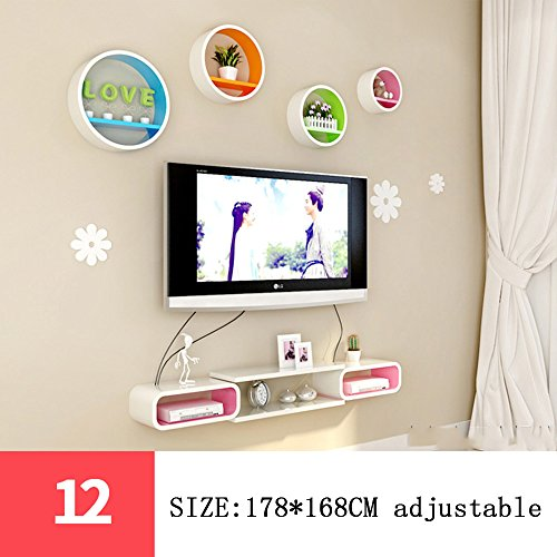 etagere-rond-de-reseau-creatif-decorations-murales-decoration-murale-de-television-ensemble-mural-po