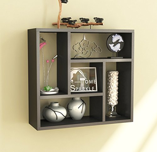 Home Sparkle Sh766 Wall Shelf (Lacquer Finish, Black)