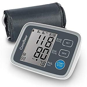 Blutdruckmessgerät CocoBear Digitale Oberarm Blutdruckmessgerät mit Arrhythmie-Erkennung 2 * 90 Speicher Messungen für eine präzise Blutdruckmessung