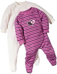 Baby Butt Schlafanzug 2er-Pack mit Druckmotiv Herz und Sterne Interlock-Jersey