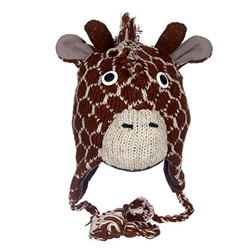 Fun Giraffe handgefertigt Winter Joppe Animal Mütze mit Fleece Futter Gr....