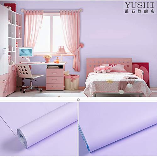 Einfarbig selbstklebende tapete tapete schlafzimmer wasserdicht möbel aufkleber 0,45 mt * 10 mt 5588 hellpurpur -
