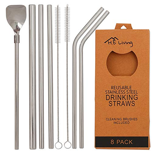 Delicious Tito Titanium Straws With 1 Cleaner Brush Titanium Bend Straw Kitchen Outdoor Camping Drinking Family And Holiday Gift Straws Sports & Entertainment