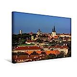 Premium Textil-Leinwand 45 cm x 30 cm quer, Blick über die Altstadt mit ihren zahlreichen Wahrzeichen | Wandbild, Bild auf Keilrahmen, Fertigbild auf echter Leinwand, Leinwanddruck (CALVENDO Orte)