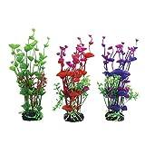 Vivifying acquario piante artificiali, 3pezzi, altezza 19,8cm. Plastica piante per acquari