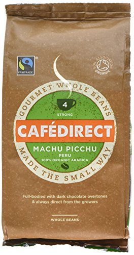 Cafédirect Fairtrade Machu Picchu Whole Bean Arabica Coffee, 227 g, Pack of 6
