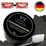 Zahnaufhellung Kokos Aktivkohle Pulver 30 g ? natürliches Zahn Bleaching für Weiße Zähne ? Zahnverfärbungen entfernen & Zähne aufhellen ? Made in Germany -