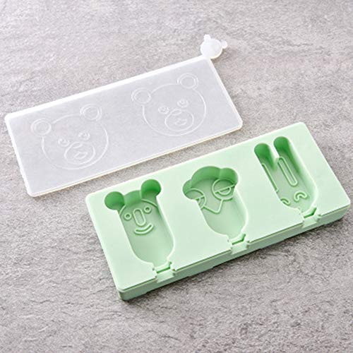 QXM 3 Auch Silikon-Eiscremeform mit Deckel DIY Hausgemachte Eiswürfel EIS am Stiel-Box Eiscreme EIS am Stiel,Flesh (Tupperware Cupcakes Für)