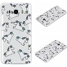 Voguecase® Para Samsung Galaxy J5 (2016) J510FN Funda,(unicornio 02) TPU protectora de Silicona de Gel Funda Tapa Case Cover con Absorcion de Impactos y Anti-Aranazos Espalda Movil Celular Carcasa+ Gratis aguja de la pantalla stylus universales