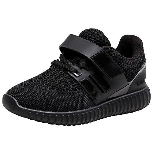 Jamron Unisexe Filles Garçons Femmes Été Respirant Engrener Chaussures de Sport Lacer Velcro Baskets Poids Léger Chaussures de Course à Pied
