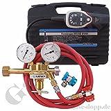 Lecksuchkit Formiergas - Gaslecksuchgerät Sniffer für Klimaanlagen + Schlauch + Schnellkupplungen + Druckminderer - von Gase Dopp