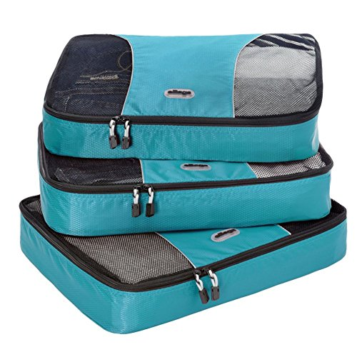 eBags Large Packing Cubes - 3pc Set (Aquamarine)