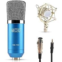 Tonor Microfono a Condensatore di Registrazione dello Studio di Radiodiffusione con il Supporto a Scossa