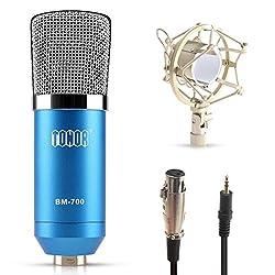 Tonor Professionell Aufnahmemikrofon Broadcast Studio-Aufnahme-Kondensatormikrofon mit Schwingungsdämpfer Blau