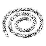 Oidea Herren Edelstahl Halskette, 9mm Breite Ketten Ohne Anhänger Biker Punk Rock 57cm Königskette, Silber
