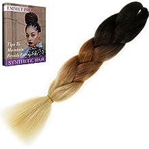 Emmet Trenza de pelo 24 pulgadas vistoso cabello sintético extension Pelo de gran calidad no destiñen