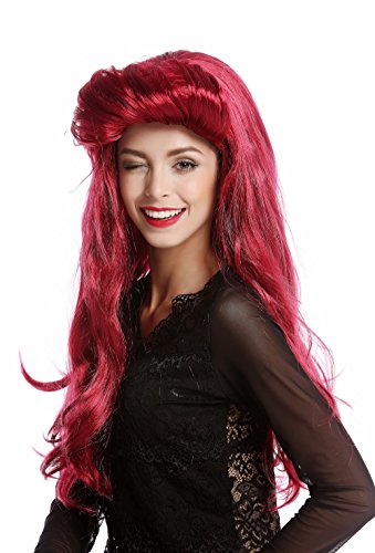 WIG ME UP - 91313-ZA13A/ZA67A Perücke Damenperücke Halloween Karneval sexy Vamp lang rot Tolle 70er (Perücke Vamp)