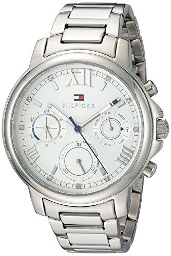 Tommy Hilfiger Women 'Claudia' Casual de acero inoxidable de cuarzo reloj de pulsera, color: silver-toned (modelo: 1781741)