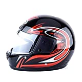 Motorradhelm Futurepast Integralhelm Damen Motorradhelm Herren Sturzhelm Helm Winter Helm Schutzkappen für Elektromobil Motorrad