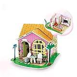 Georgie Porgy 3D Holz Puzzle Kinder Haus Möbel Handwerk Bau Kit Jigsaw Home Dekoration (DV182 Wohnzimmer)
